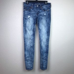 American Eagle 6 Acid Wash Skinny Jeans